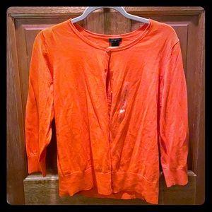 Ann Taylor orange cardigan